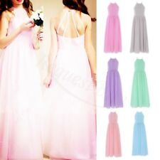 Kids Flower Girl Dress Wedding Bridesmaid Chiffon Party Formal Long Dresses Gown