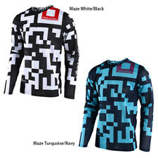 Troy Lee Designs 2018 Mens Adult GP Air Jersey Maze White/Black, Turquoise