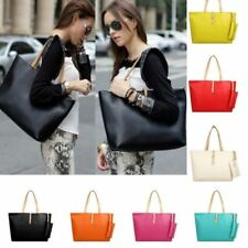 New Womens Faux Leather Fashion Satchel Handbag Lady Shoulder Bag Totes Purse AU