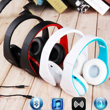 Wired/Wireless Foldable Headset Stereo Headphone W/Mic for Samsung iPhone IOS