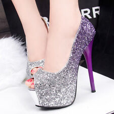 Peep Toe High Heels Shoes Party Wedding Women Pumps Heels Dress Shoes GWS089