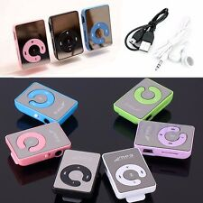 Mirror Mini Clip USB Digital Mp3 Music Player Support 8GB SD TF Card + Earphone