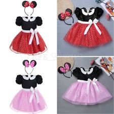 Baby Kids Girls Minnie Mouse Halloween Costume Party Tutu Dress Headband Outfit