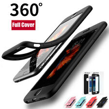 For iPhone X 10 5S SE 360 Case Full Cover Front+Black Silicone Shockproof Cover