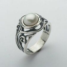 New SHABLOOL Ring Freshwater White Pearl 925 Sterling Silver Jewelry