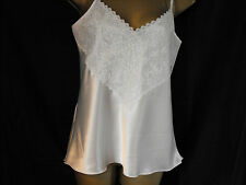 NEW LUXURY Satin and Lace Camisole Top RED BLACK IVORY WHITE MADE IN THE UK (S10