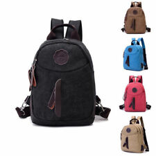Women Men's Bag Canvas Backpack Rucksack Laptop Shoulder Travel Camping Bag 69