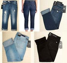 NWT ROCK & REPUBLIC Cropped Capri Skinny Jeans KENDALL Blue Black Women's Cuffed