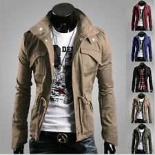 Outerwear Casual Clothes Overcoat Slim Fit Mens Jacket Coat Winter Warm I0044
