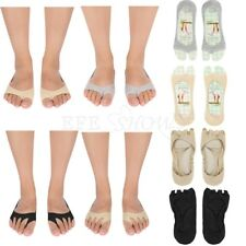 2 Pairs Women Girls Peep-Toe Shoes Open-Toed Low Cut Socks Non-Slip Pain Relief