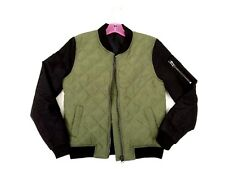 NEW Pink Latte Girls Green and Black Bomber Jacket  Size 8/10, 12/14