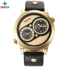 NORTH Men Sport Watch Luxury Brand Genuine Leather Wristwatch Mens Watches 2017