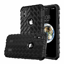 Shockproof Hybrid Armor Rubber Tire Pattern Case Cover For iPhone  8&8 Plus