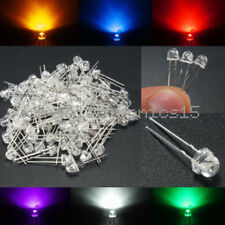 5MM Straw Hat White/Yellow/Purple/Blue/Green/Red Color LED Wide Angle Light Lamp