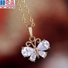 Fashion Jewelry Lady Girl butterfly collarbone necklace pendant 18k gold plated