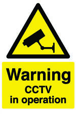Safety Sign Construction / Building Sign - Warning CCTV In Operation