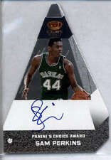 Sam Perkins Auto /25 2012-13 Preferred Panini's Choice Silver #86 Mint Mavericks