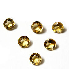 Natural African Citrine AA Quality 6 mm Size Faceted Round Shape Loose gemstone