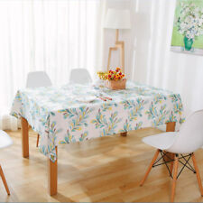 Feather Print Cotton Linen Tablecloth Table Runner Cover Placemat Table  Decor