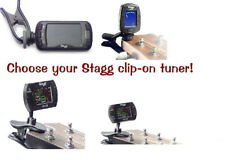 Stagg Clip-on Chromatic Tuner For Guitar, Bass, Violin & Ukulele [EU stock]