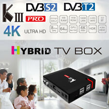 KIII Pro Android 6.0 DVB-T2 FTA HD DVB-S2 Satellite Receiver TV Tuner Wifi BT4.0