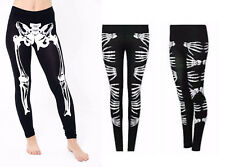 Halloween Skeleton Bone Printed Leggings Womens Ladies Fancy Dress Legging Pants