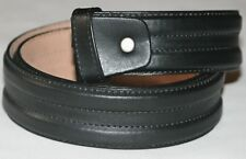 Men,s Genuine 100% Real Leather Belt Snap On Strap Without Buckle 1.5 Inch Wide