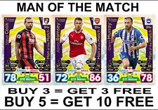 Match Attax 17/18 MAN OF THE MATCH #361-436 2017 2018 2017/18 MOTM Badge Cards