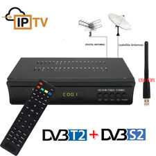 DVB-T2 Terrestrial DVB-S2 Satellite Receiver V7 COMBO TV Tuner Wifi Youtube PVR