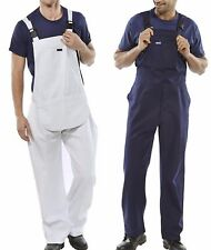 Bib and Brace Overalls Painters Decorators Coveralls Dungarees DIY Blue or white