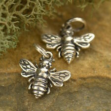 925 Sterling Silver Bee Necklace Honeybee Bumble Insect Animal Charm Pendant 699