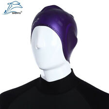 Unisex Swimming Long Hair Silicone Cap Elastic Stretch Hat Adult Ear Protection