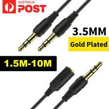 3.5mm Aux Jack Male to Female and Male to Male Cable Auxiliary Audio Car Cord AU