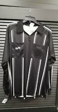 Official Sports Soccer Referee Economy Jersey Black Long Sleeve Sizes YL and AM