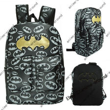Batman LOGO Backpack Knapsack Schoolbag Travel Bag Shoulder Bags Gift Leather NW