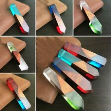 Fashion Resin Wood Pendant Colored Resin Necklace Accessories Jewelry Gifts