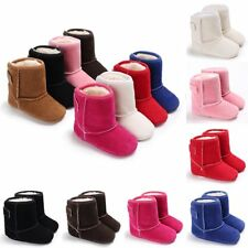 Baby Kids Infant Boys Girls Warm Snow Boots Fur Lined Winter Toddler Crib Shoes