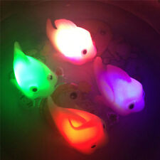 Creative Baby Kids Toy Bathroom LED Light Fish Water Induction Waterproof In Tub
