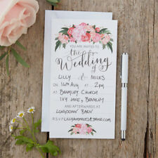 Blank Vintage Flowers Day and Evening Wedding Invitations Venue or Reception