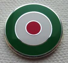 MOD TARGET BADGE - ITALY ITALIA COLOURS 12 16 OR 20MM DIA