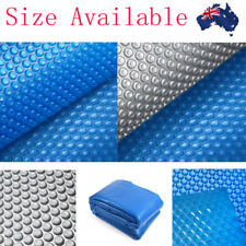 Solar Swimming Pool Cover Blue/Silver Outdoor Bubble Blanket All Size Available