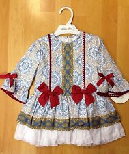 *New Winter Christmas* Girls Romany Spanish Dress with bows and  Lace Age 2- 8