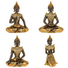 NEW DESIGN Golden Thai Buddha Meditating Figure Statue
