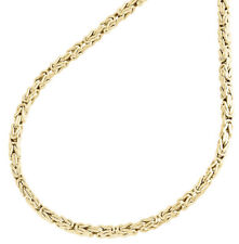 """Mens 2.5mm Real 10K Yellow Gold Byzantine Link Chain Necklace 16"""" - 22"""" Inches"""