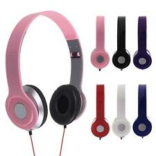 3.5mm Foldable Stereo DJ Style Headphones Earphone Headset Over Ear MP3/4 2017
