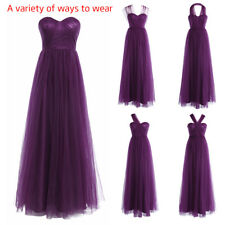 Long Women Formal Wedding Bridal Dress Evening Prom Ballgown Bridesmaid Dress
