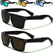 NEW BLACK BROWN SUNGLASSES POLARIZED MENS LADIES DESIGNER RETRO FLAT TOP UV400