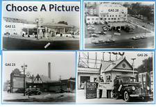 """Texaco Gas Station Black & White Picture  12 X 18""""  SEE SELECTIONS"""
