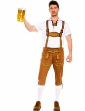 Brown Faux Suede Bavarian Lederhosen Costume