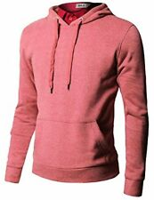 Doublju Mens Hood Pull-over W/ Contrast String - Choose SZ/Color